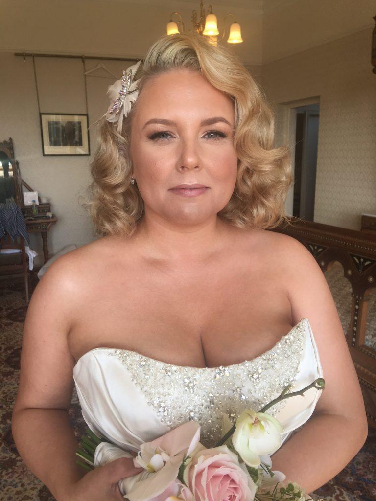 Maggie Sottero summer wedding makeup West Midlands