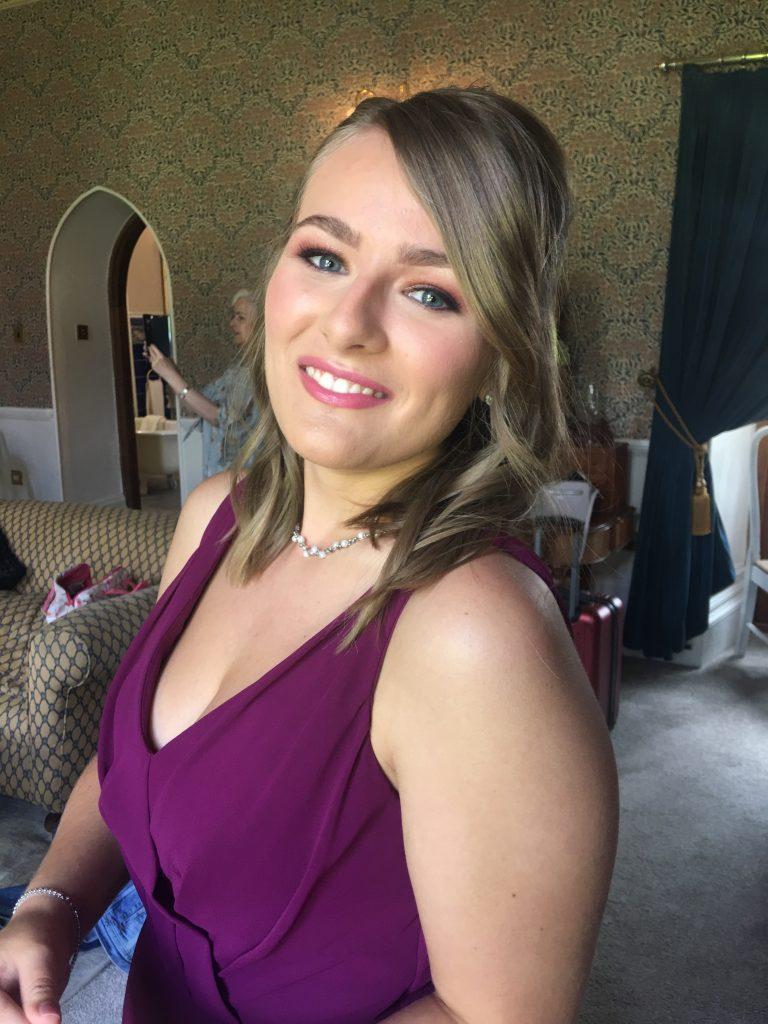Charlotte Tilbury Stars-in-their-Eyes bridesmaid makeup at Grafton Manor, Upton Warren