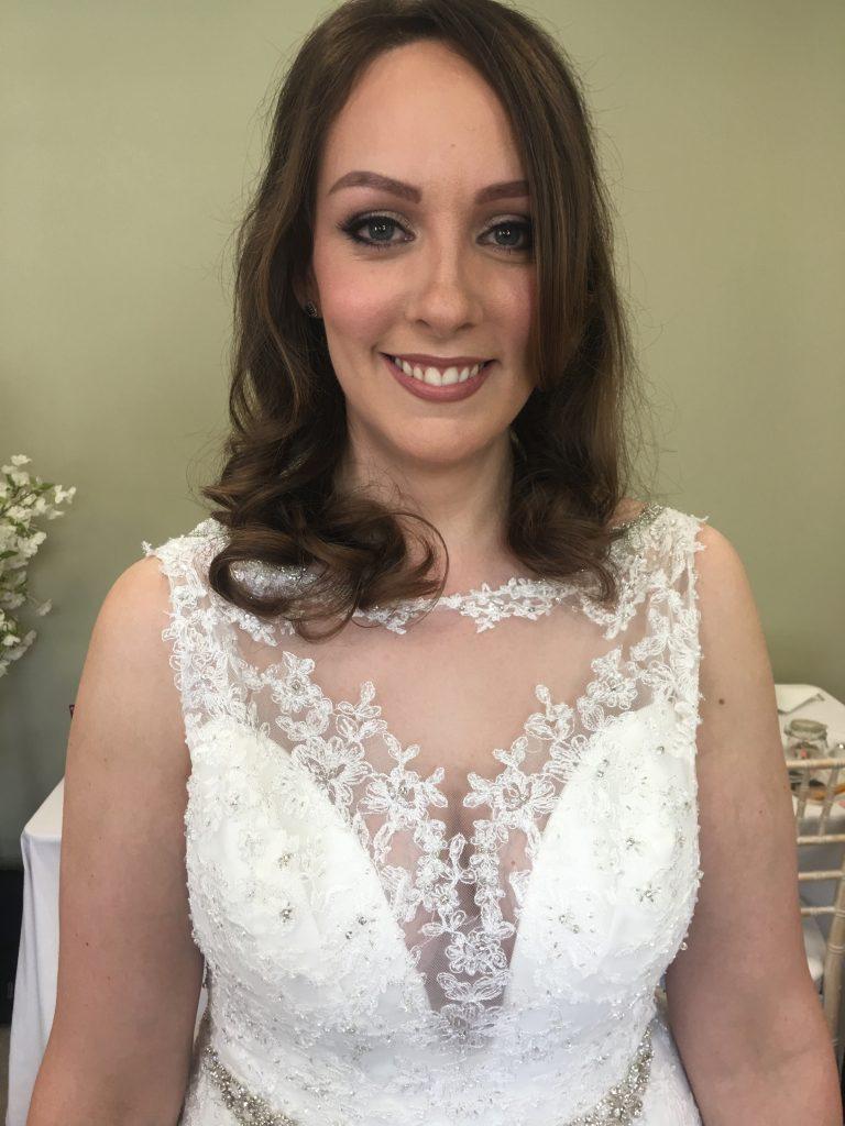 Neutral toned bridal makeup, Bewdley