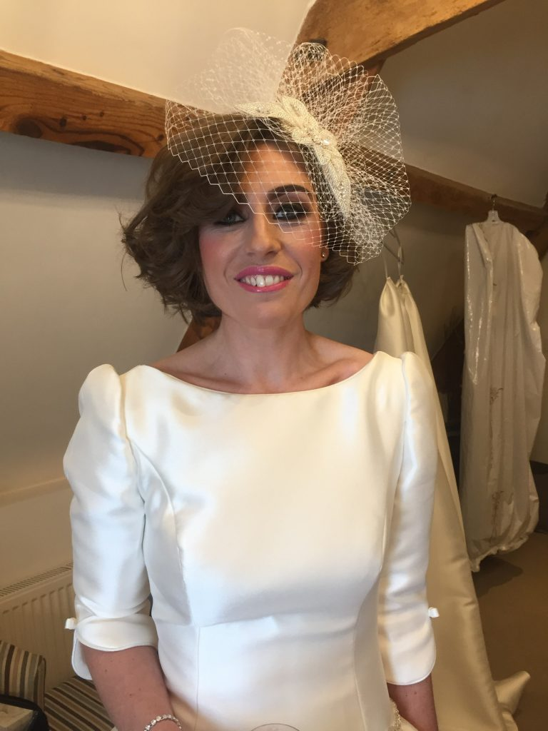 Bridal makeup Kingscote Barn Cotswolds