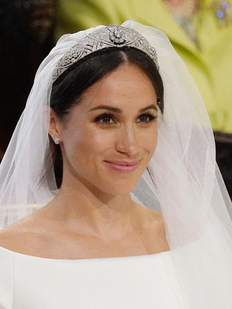 Close up of Meghan's bridal look